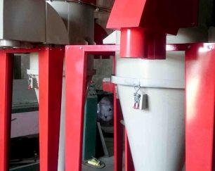 سایکلون بازیافت رنگ با دستگاه پاشش رنگ پودری و کوره پخت رنگ