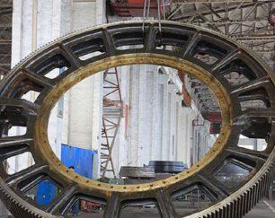 ساخت وتولید انواع چرخ دنده های سنگین صنعتی در ابعاد بزرگ
