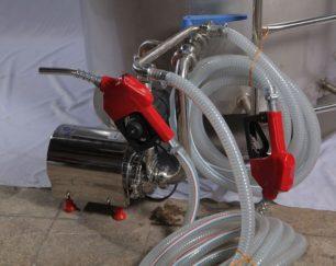 تولید کننده پمپ تخلیه متصل به پاتیل و شیر سرد کن(تکنوصنعت)