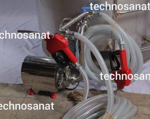 پمپ تخلیه متصل به پاتیل و شیرسردکن تکنوصنعت
