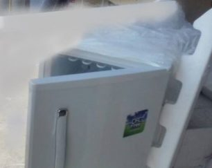 یخچال فریزر 12فوت خورشیدی مجهز به کمپرسور12ولت